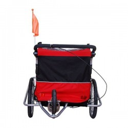 Swivel buggy bike trailer