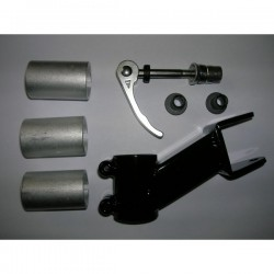 Universal trailer bike block hitch