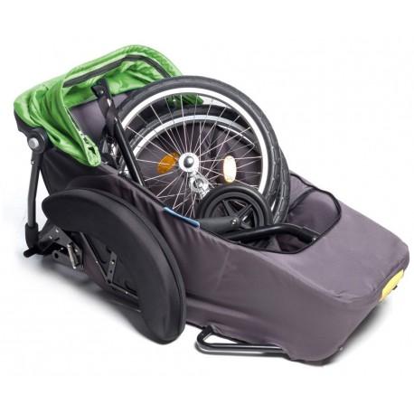 Vélo-Béquille latérale F enfants remorque Croozer Burley.