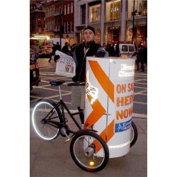 Nihola Posterbike reclame bakfiets