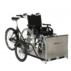 Nihola Flex cargo trike for wheelchair