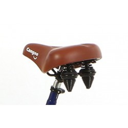 Cangoo bicycle saddle brown