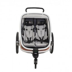 Hamax outback 2 White/grey/orange bike trailer