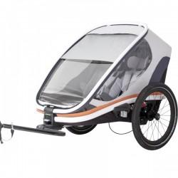 Hamax outback 2 White/grey/orange bike trailer