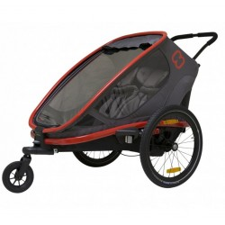Hamax outback 2 Red/Black bike trailer