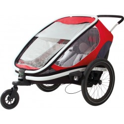 Hamax outback 2 Grey/Red/Black bike trailer