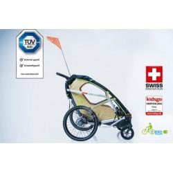 Leggero Enso Sail child bike trailer