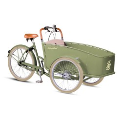 Johnny Loco Dutch Delight Green child cargo bike