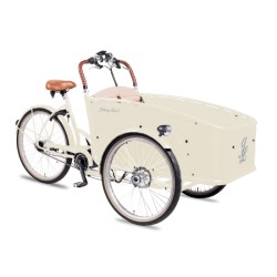 Johnny Loco E-Bike Cargo Ivory child transport trike