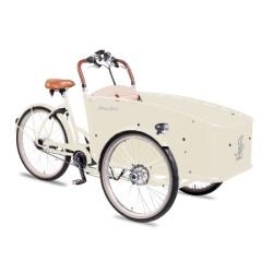 Johnny Loco E-Bike Cargo Ivory kindertransportrad