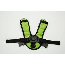 Croozer kid for 2 V-Chest seatbelt green