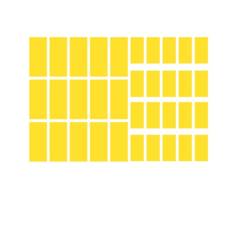 Reflecterende bakfiets stickers rechthoek
