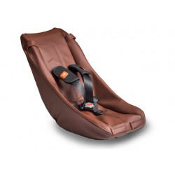 Baby Safety Seat Comfort Brown Leather