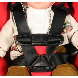 Cargo bike seat belt chest clip belt clamp