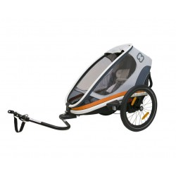 Hamax outback 1 white / gray / orange bike trailer