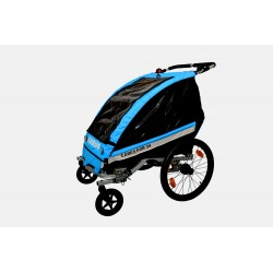 KidsCab Cares for 2 child bike trailer with suspension