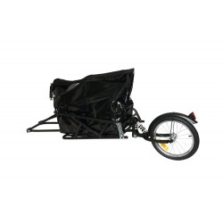 KidsCab OneWheel cargo bike trailer with suspension