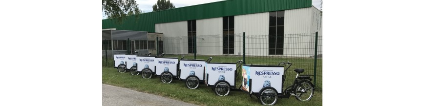 commercial and advertising cargo bike