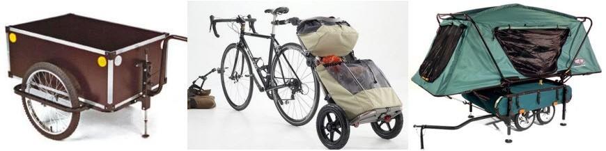 Bagagefietskarren voor het vervoeren van goederen of boodschappen
